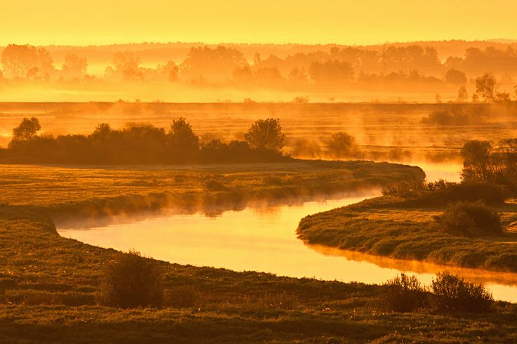 autumn sunrise at Biebrza River National Park