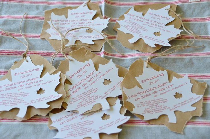 Einladungskarten z.B. zur Erntedankfeier oder sonstigem Herbstfest