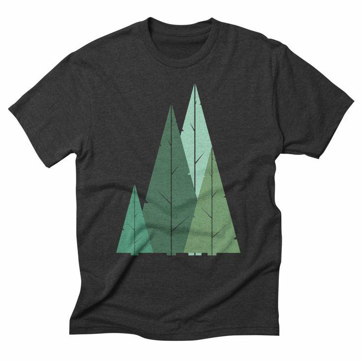 Cypress greens, heather onyx t-shirt. #cypress #trees #minimal #green #nature #geometric #ecofashion #forest #tshirt #tshirtdesign #apparel #clothing #menswear #womensfashion