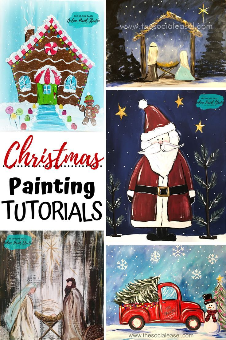 Christmas Tutorials Christmas Paintings Painting Videos Tutorials Painting Studio