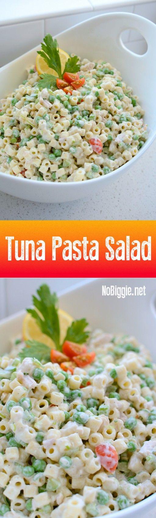 Tuna Pasta Salad | NoBiggie.net                                                                                                                                                      Más
