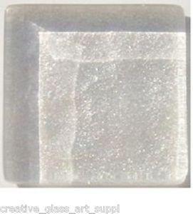 20 - 3/4 inch WHITE PEARL Metallic Glass Mosaic Tiles