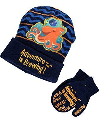 Finding Dory Nemo Boys Girls Beanie Hat and Mittens Set  b7dbc085826