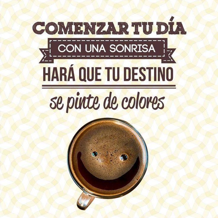 """""""Comenzar tu día con una sonrisa hará que tu destino se pinte de colores"""" #Citas #Frases @Candidman"""