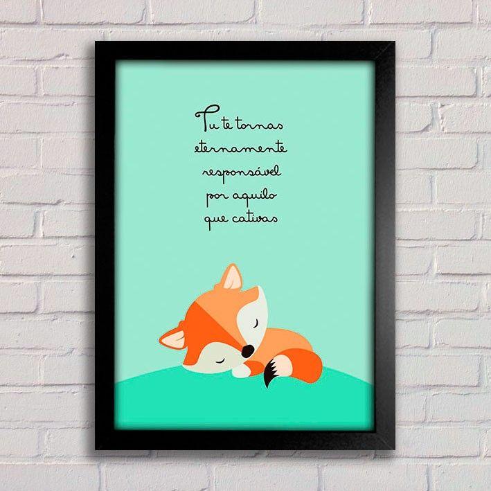 Poster Pequeno Príncipe - O essencial é invisível aos olhos