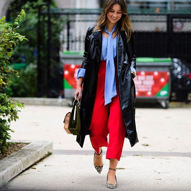 Going out and buying a pair of red pants immediately  || @nyavgjoe via ELLE USA MAGAZINE OFFICIAL INSTAGRAM - Fashion Campaigns  Haute Couture  Advertising  Editorial Photography  Magazine Cover Designs  Supermodels  Runway Models