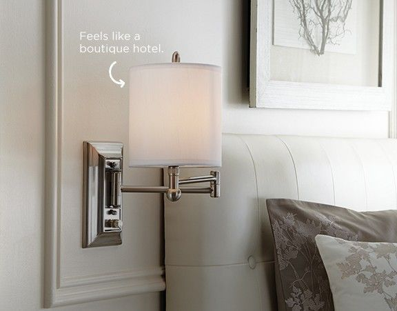 looking to create a boutique hotel style retreat in your bedroom weve got the canvas holden wall sconce light just for you maximize this look by adding