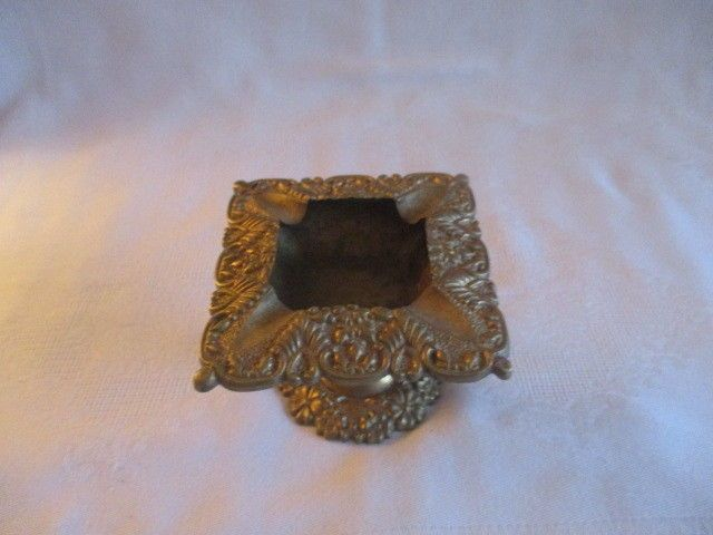 Unique Vintage Ornate Pedestal Brass Ashtray Made in India | eBay