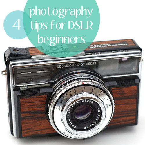 Here are 4 tips for those that are next DSLR photographers.