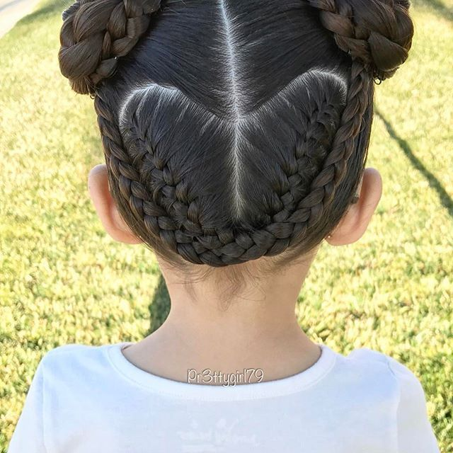 "✨""Let all that you do be done in love.""✨ . Just a braided heart into pigtail buns  excuse the awry part line. ☺️ . Happy first day of February!  . #pr3ttyhairstyles #pr3ttyheartstyles #braidsforlittlegirls #cghphotofeature #valentineshair #braidstyles #braidedbun #braidedupdo #braided #braidedhair #pigtails #braidideas #hairoftheday #hairstyle #hairideas #hairinspo #abc7eyewitness #sweetheartshairdesign #lalasundaypost #peinadosparaniñas #peinado #penteado #trenzas #heartstyle #kidsbrai..."