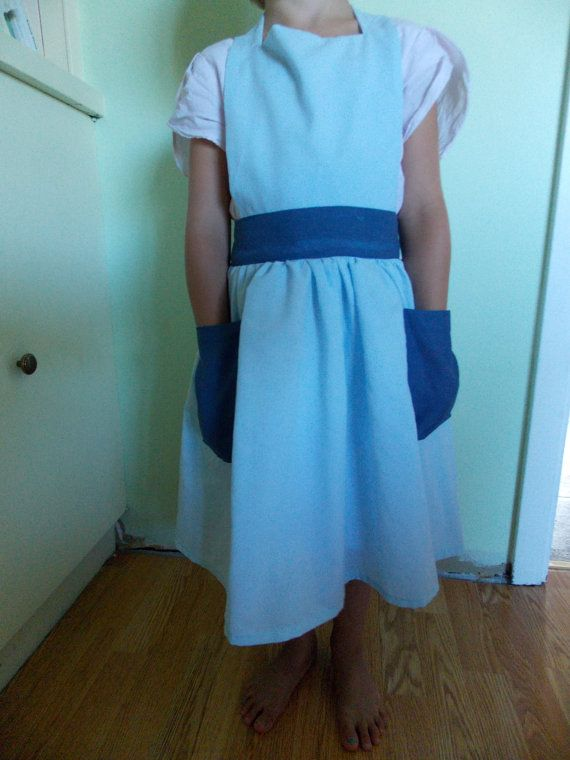 Custom Size 6 Sky Blue Apron Made From Vintage by content2Bsew