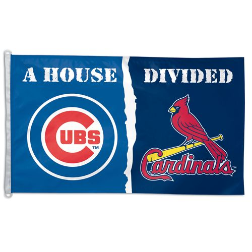 Chicago Cubs vs St. Louis Cardinals House Divided Flag $31.95  @Leslie Mallman Cubs