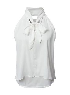 新作春服オフショルダーシフォンノースリーブホワイトブラック2カラー2016夏レディーストップススリボンネックタンクトップ白黒
