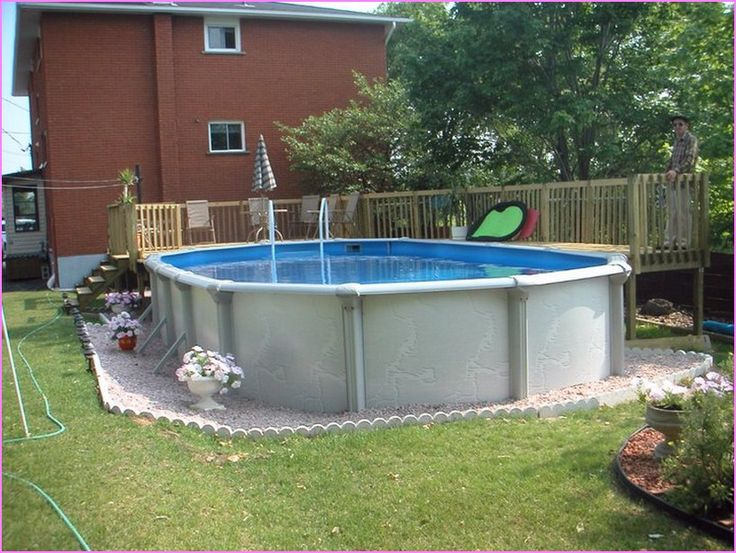Above Ground Pool Ideas Backyard this rectangular above ground pool it entirely surrounded by deck this makes this pool Image Result For Above Ground Pool Landscape Designs Backyard Pinterest Image Search Pools And Landscapes