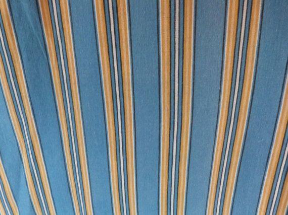 Vintage linnen matras tikkende gordijn door MyFrenchAntiqueShop