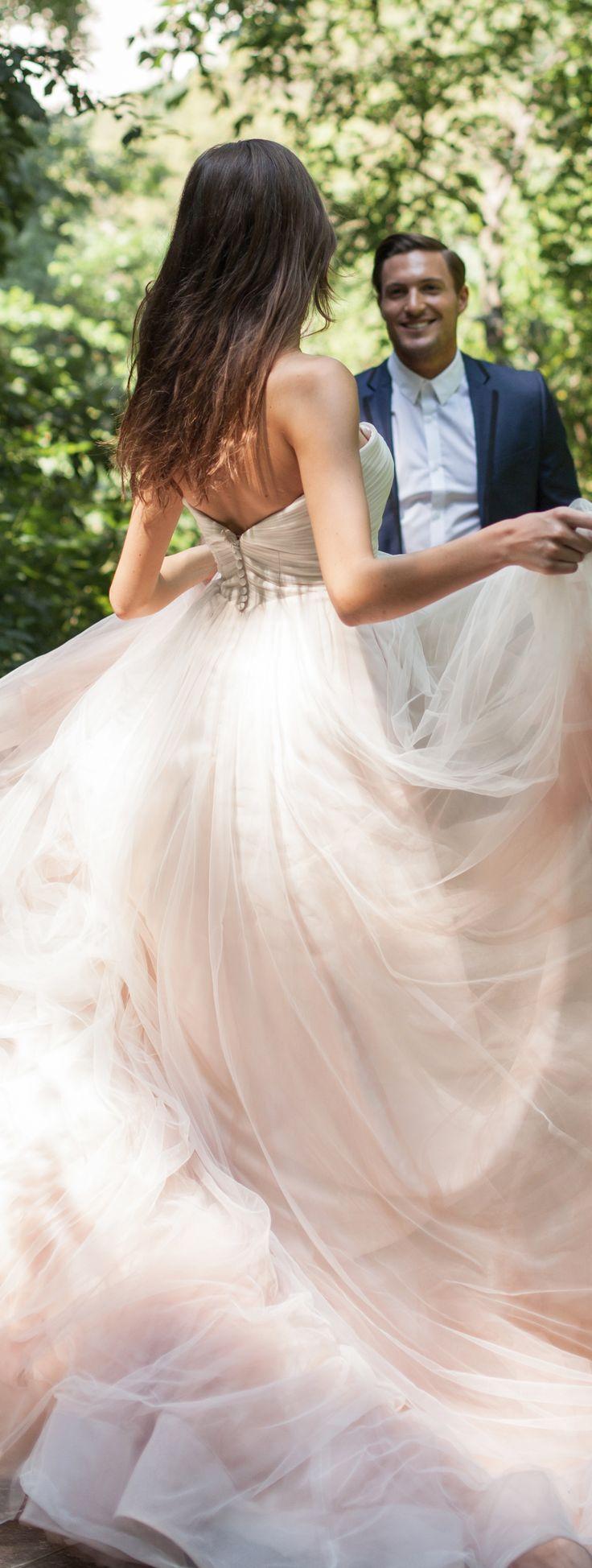 Blush Wedding Dress by Kelly Faetanini Spring 2017