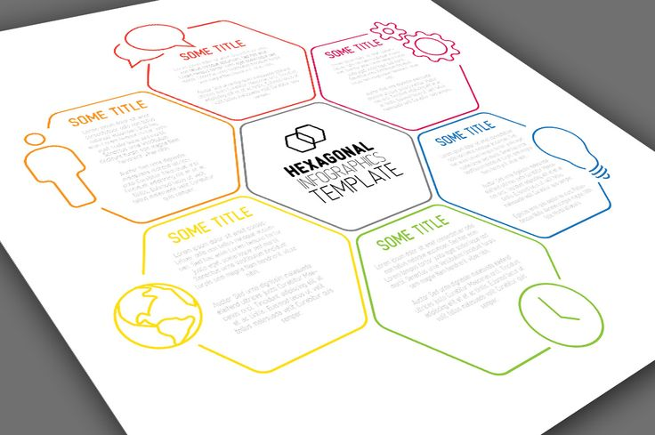 Infographic Template - Hexagons by Orson on Creative Market