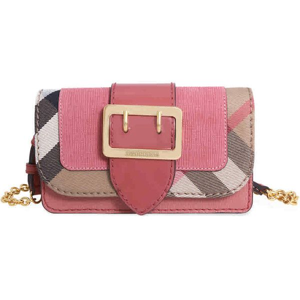 8b12cc0e1877 Burberry Mini Buckle Phone Bag- Rose Pink (1