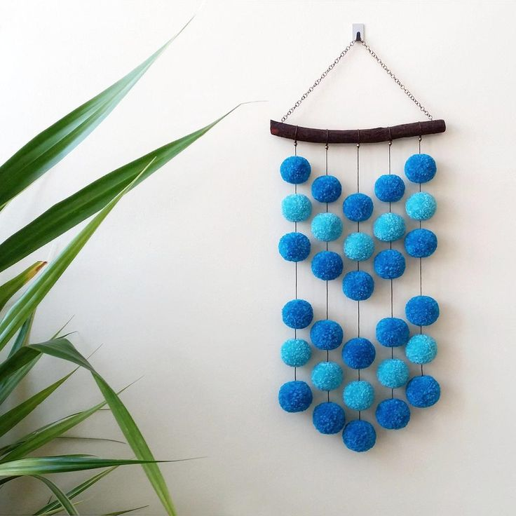 Pompom wall hanging.