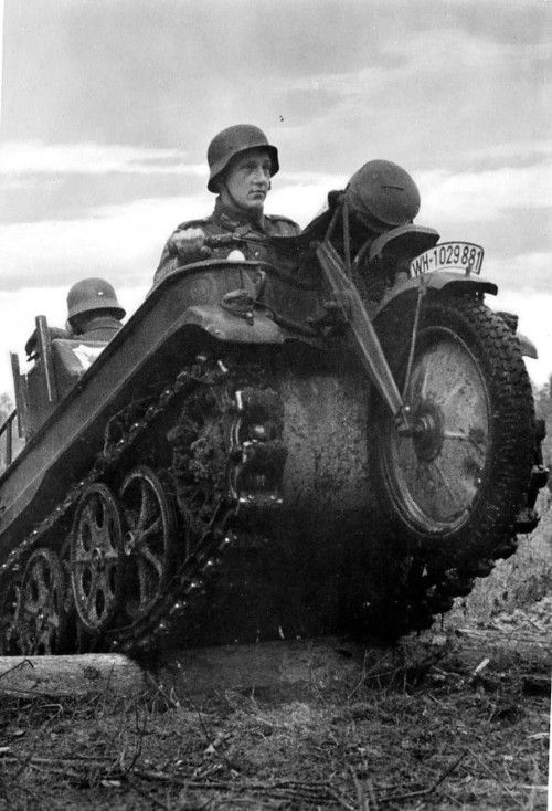 """kettenkraftrad The Kettenkraftrad, type HK 101 is one of the most unique vehicles developed during the Second World War. The """"tracked motorcycle"""" concept was conceived and patented by a German inventor, Heinrich Ernst Kniepkamp, in June of 1939. This..."""