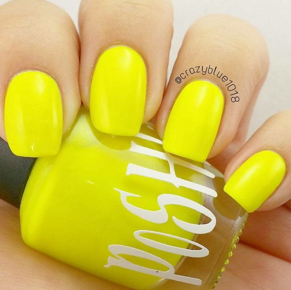 Unique Lightning Yellow Neon Fluorescent Nail Polish Full Size 15ml Bottle