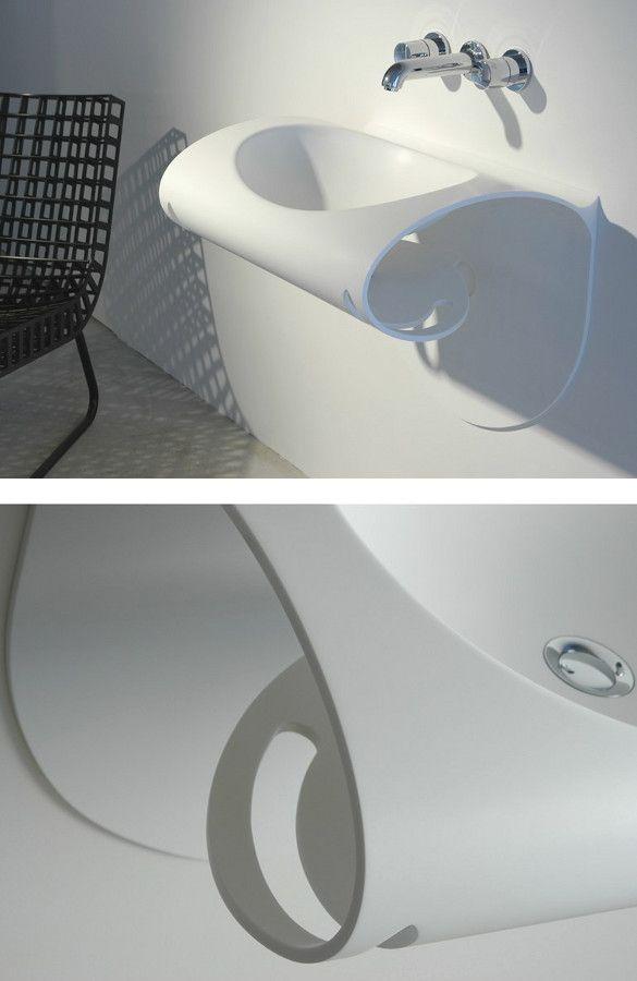 HI-MACS® #washbasin by HI-MACS® by LG Hausys Europe @Hi-MACS Natural Acrylic Stone