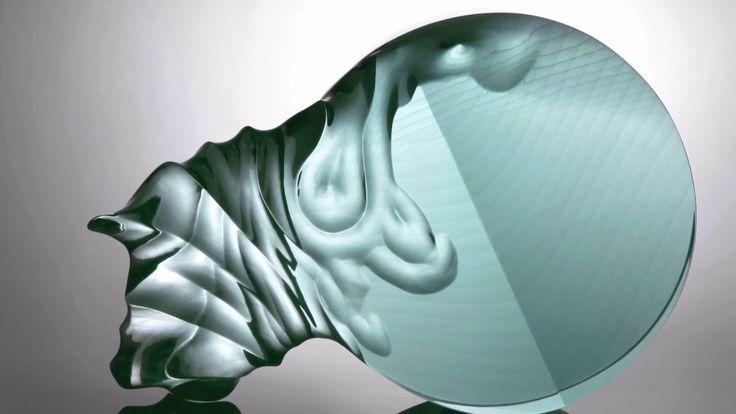 Glass Sculpture LARGE ERUPTION Jiri Karel Private collection Frankfurt am Main Germany