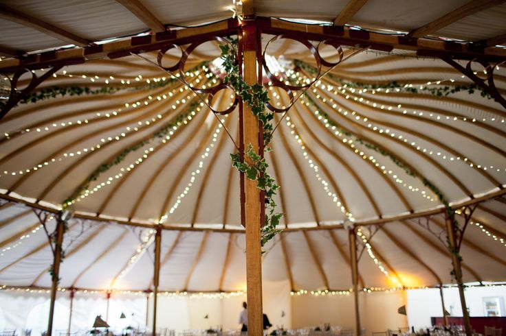 Fairy lighting within our Grand Pavilion.