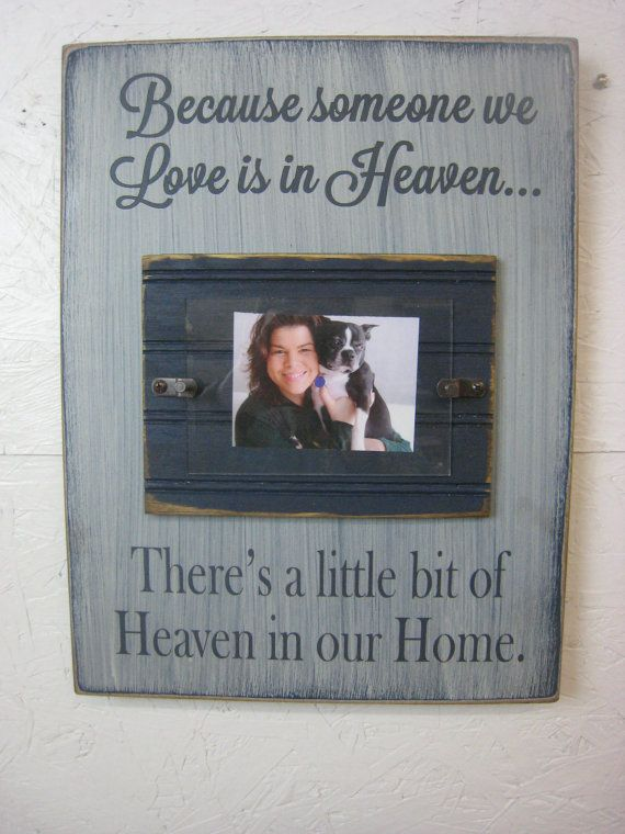 memorial picture frame with saying because by