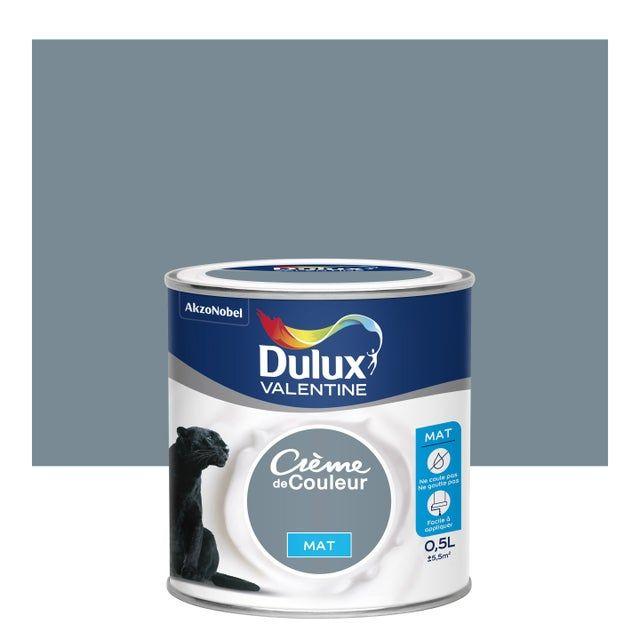 Peinture Bleu Gris Mat Dulux Valentine Creme De Couleur 0 5 L En 2020 Dulux Valentine Peinture Bleu Gris Et Peinture Prune