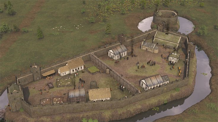 Leeds Castle in Kent around 1150 CE by Virtual Past