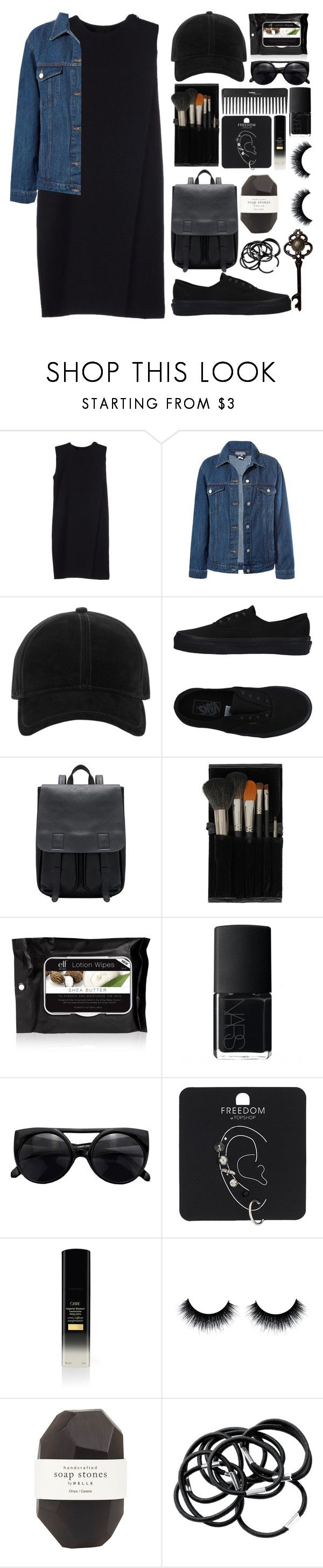 """""""b l a c k"""" by kind-at-heart ❤ liked on Polyvore featuring Alexander Wang, Sans Souci, rag & bone, Vans, Topshop, e.l.f., NARS Cosmetics, Sephora Collection, Pelle and H&M"""