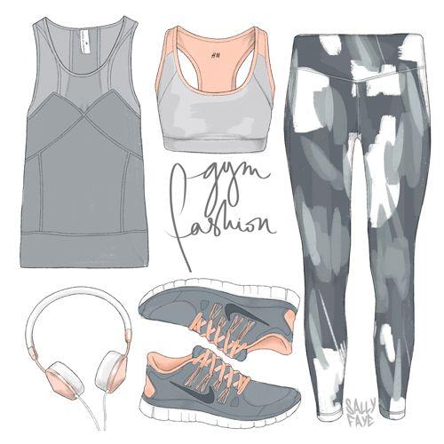 Gym Fashion - Style Illustration - Sally Cotterill, Fashion Illustrator, UK