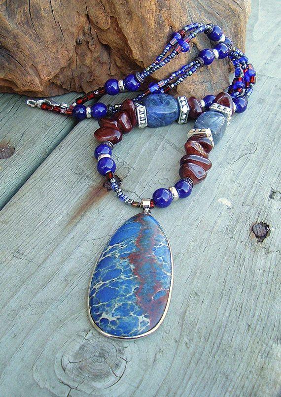 Bohemian Necklace Sundance Style Southwest Jewelry by BohoStyleMe
