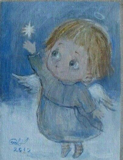 Nino Chakvetadze (b1971, Tbilisi, Georgia) | ნინოს ანგელოზები | Нино Чакветадзе