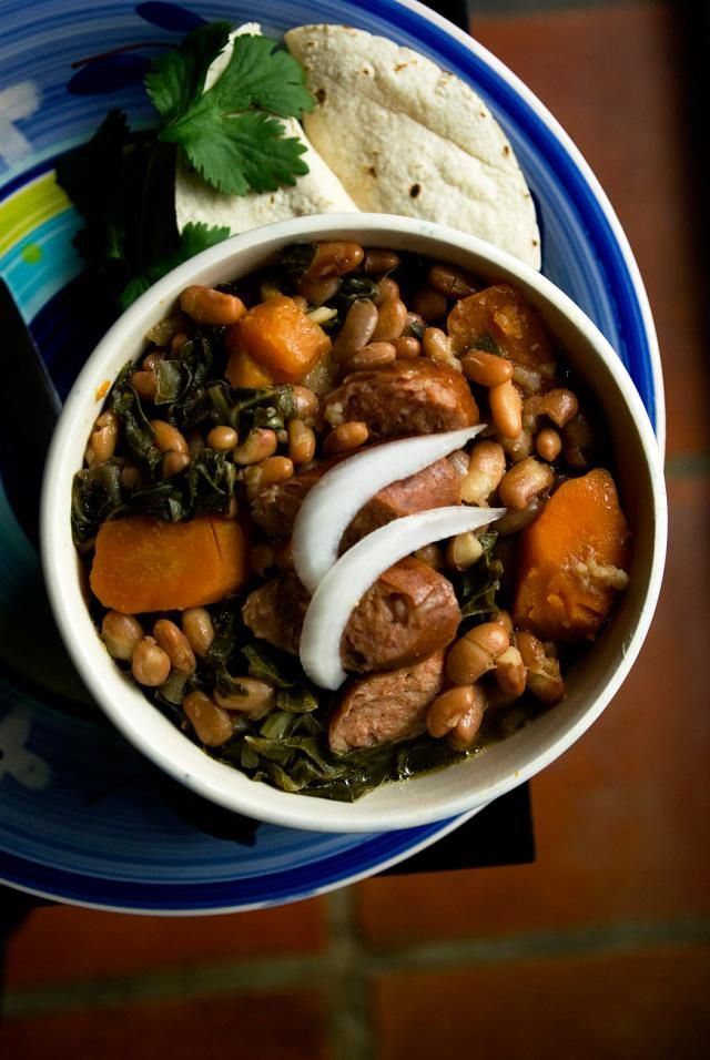 cannellini bean and sausage stew with tomatoes and basil friendly from ...