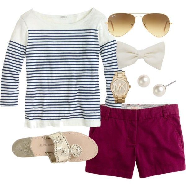 Purple Shorts, created by classically-preppy on Polyvore