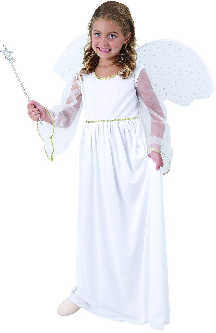 Disfraz ángel blanco niña Disponible en http://www.vegaoo.es/p-221985-disfraz-angel-blanco-nina.html?type=product