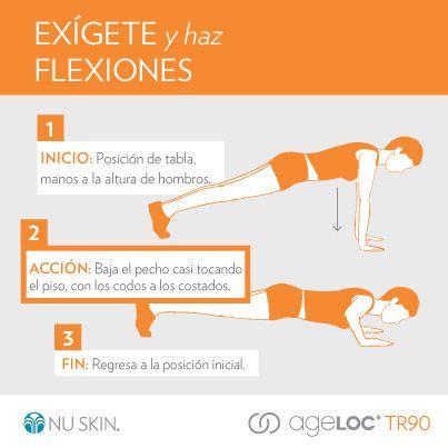 Un buen ejercicio son las Flexiones. #TR90