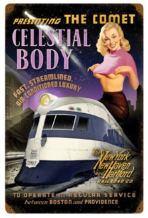 Celestial Body Pin-Up Metal Sign