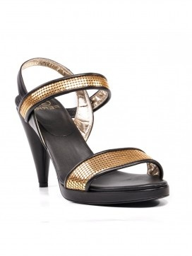 Ferre Black & Gold High Heels