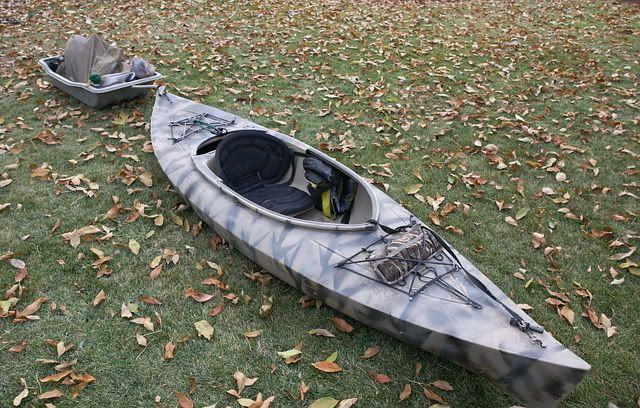 Cool Tow Behind Trailer Kayaking Boat Blinds Kayak