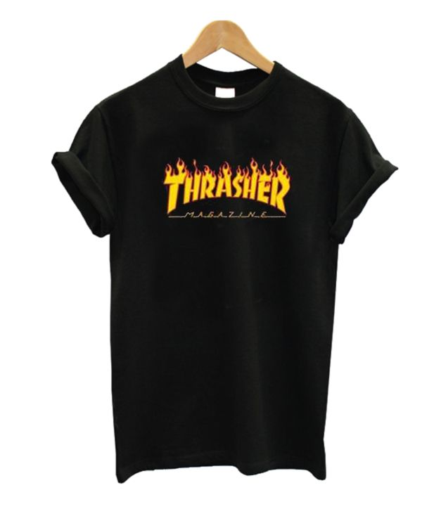 0dc835dcc359 Thrasher Magazine Flame Logo T Shirt