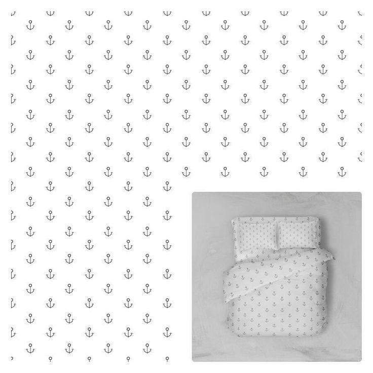 10 отметок «Нравится», 1 комментариев — Eva (@eva_illustration_and_photo) в Instagram: «Чтобы спалось сладко :) мой новый паттерн #design  #pattern #illustration #illustrator #якоря…»