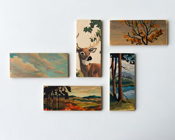 Paint by Number Art Block 'Fall Sunset by StudioLiscious on Etsy