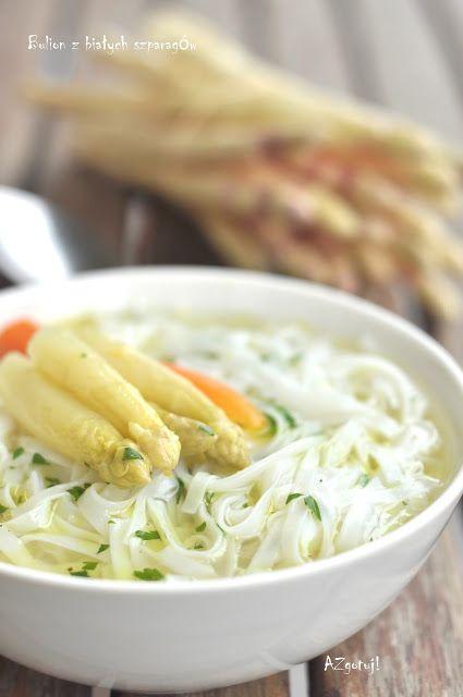 Od A do Z gotuj!: Bulion z białych szparagów na przyjecie komunijne