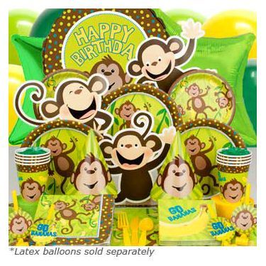 Purchase Monkey Around Ultimate Birthday Kit Serves 8 Guests and other All Parties party supplies. The most popular party Supplies and Decorations, all available at wholesale prices!