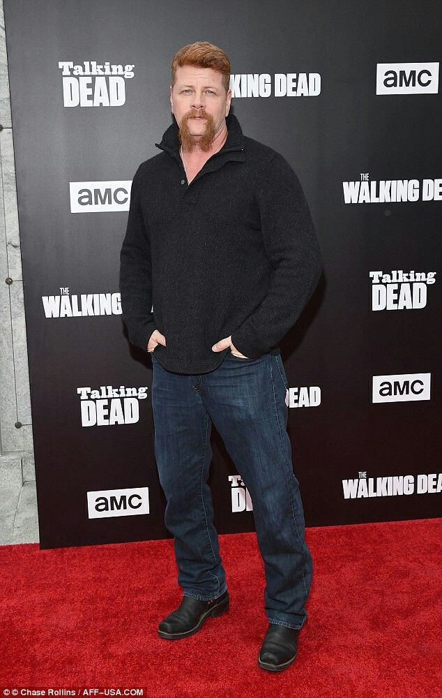 7 of 8  Casualty: During Sunday night's episode, Negan also kills Abraham Ford, who's played by Michael Cudlitz    Read more:http://www.dailymail.co.uk/tvshowbiz/article-3865708/Steven-Yeun-Jeffrey-Dean-Morgan-embrace-Talking-Dead-premiere-brutal-Walking-Dead-season-opener.html#ixzz4O1nbrQOs Follow us:@MailOnline on Twitter|DailyMail on Facebook