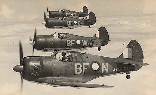 Boomerang fighters in formation (Date and location unknown)