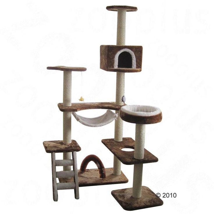 arbre chat maison en pain dpice marron blanc - Arbre A Chat Maison